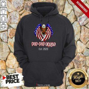 Pop-Pop Eagle American Flag Est 2020 Hoodie