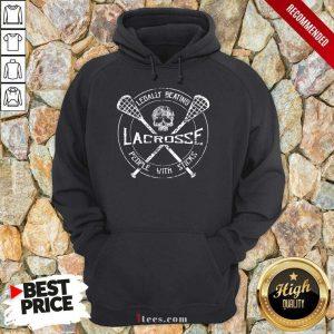 Skull Legally Beating Lacrosse Hoodie