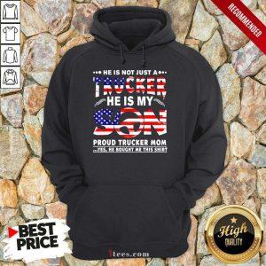 Trucker He Is My Son American Flag Hoodie