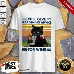 Will Give Gardening Advice Cat Vintage Shirt