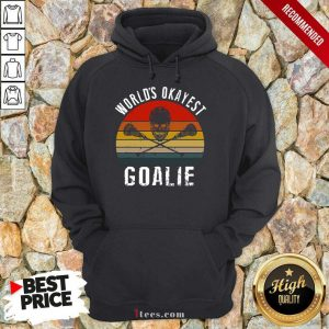 World's Okayest Goalie Vintage Hoodie
