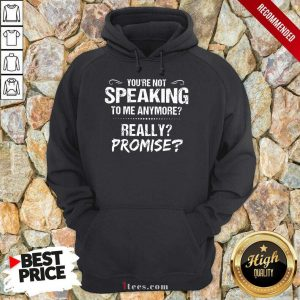 You're Not Speaking To Me Anymore Hoodie