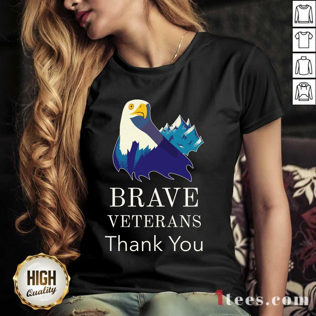 Brave Veterans Thank You Eagle V-neck