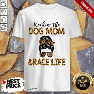 Girl Messy Busy Rocking The Dog Mom And Race Life Leopard Shirt