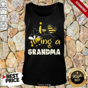 I Love Bee Ing A Grandma Bee Mothers Day Tank Top