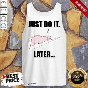 Llama Just Do It Later Tank Top