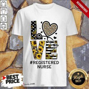 Registered Nurse Love Nurse Life Sunflower Leopard Shirt