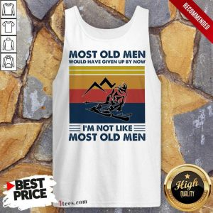 Skiing Most Old Men Would Have Given Up By Now I Am Not Like Most Old Men Vintage Tank Top