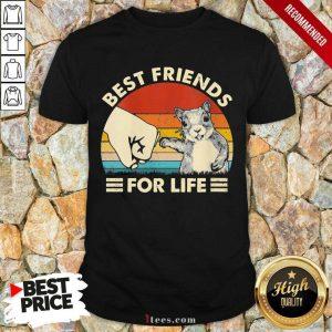 Squirrel Best Friend For Life Vintage Shirt