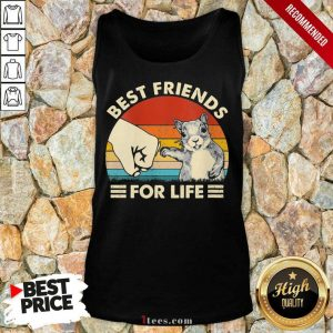 Squirrel Best Friend For Life Vintage Tank Top