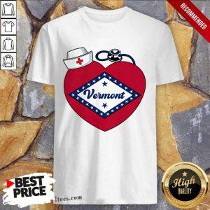 Vermont I Am My Home States Nurse Shirt